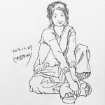 きょうのイラスト 20161227 – 今日はペンが走った!迷い線もなくてとても心地よく描けた。 – from Instagram