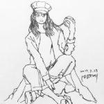 きょうのイラスト 20170323 – いきなり頭でミスって、あとはグダグダ。 – from Instagram