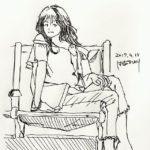 きょうのスケッチ 20170415 – 4冊目のスタートは、休日なのでちょっと時間かけすぎた。 – from Instagram