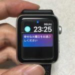 Apple Watchの画面の平面部分は思ったよりずっと小さかった。