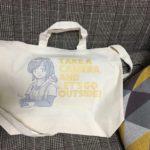 イラスト入りショッピングバッグを作りました。