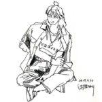 きょうのスケッチ 20190430 – 平成最後の5分スケッチ。 – from Instagram