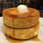 星乃珈琲店のスフレパンケーキで、ちょっとした誕生日祝い。